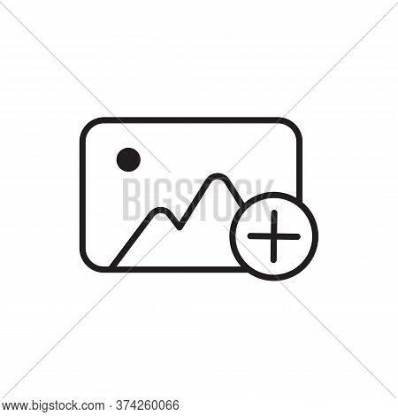 Add Photo Icon Isolated On White Background. Add Photo Icon In Trendy Design Style For Web Site And