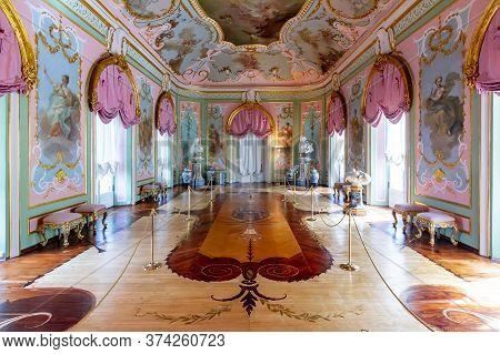 St. Petersburg, Russia - September 2019: Hall Of Muses In Chinese Palace In Oranienbaum (lomonosov)