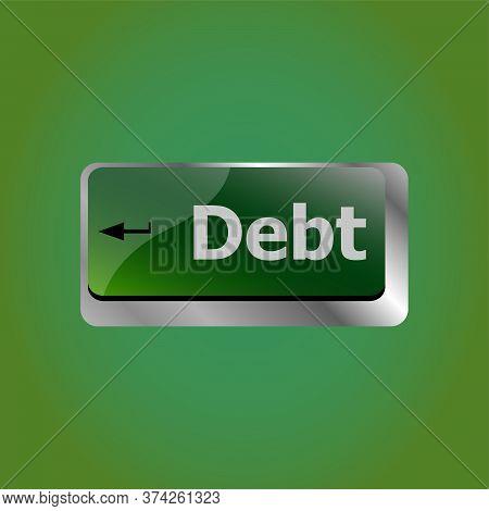 Computer Keyboard Key Debt Word, Business Concept