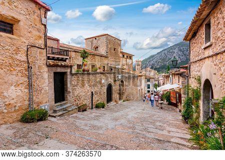 Calvary Stairs In Pollensa Town, Mallorca, Balearic Islands, Spain