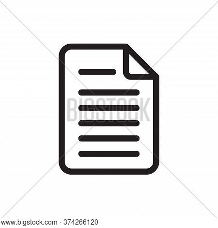 Document Icon Isolated On White Background. Document Icon In Trendy Design Style For Web Site And Mo