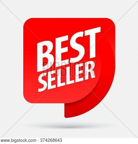 Bestseller. An Ad For An Advertising Campaign At Retail On The Day Of Purchase. Vector Illustration
