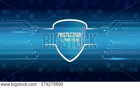 Cybersecurity For Business And Internet Project. Vector Illustration Of A Data Security Services. Da