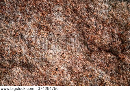 Granite Texture, Granite Background, Granite Stone Closeup On An Unpolished Real Flat Stone Surface
