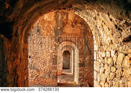 Terracina, Italy. Remains Of Temple Of Jupiter Anxur.
