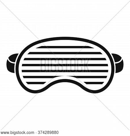 Fashion Sleeping Mask Icon. Simple Illustration Of Fashion Sleeping Mask Vector Icon For Web Design