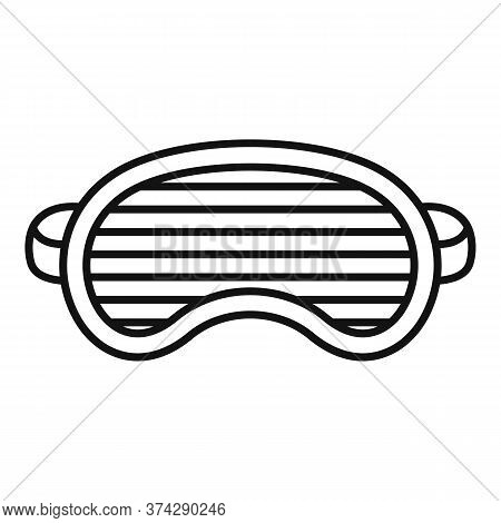 Fashion Sleeping Mask Icon. Outline Fashion Sleeping Mask Vector Icon For Web Design Isolated On Whi