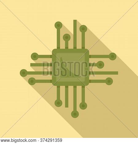 Smart Processor Icon. Flat Illustration Of Smart Processor Vector Icon For Web Design