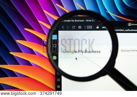 Sankt-petersburg, Russia, June 16, 2020: Google My Business Homepage On Apple Imac Screen Under Magn