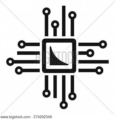 Smart Processor Icon. Simple Illustration Of Smart Processor Vector Icon For Web Design Isolated On