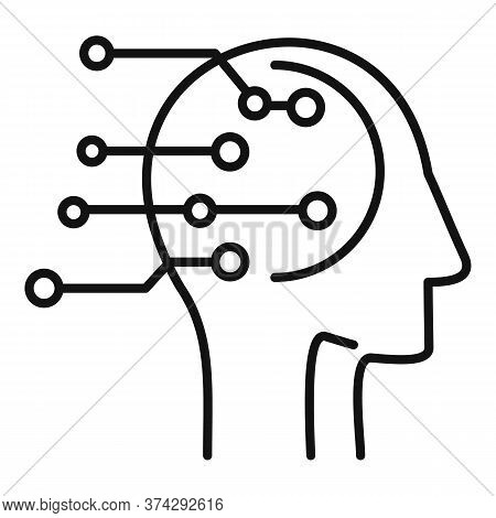 Artificial Intelligent Icon. Outline Artificial Intelligent Vector Icon For Web Design Isolated On W