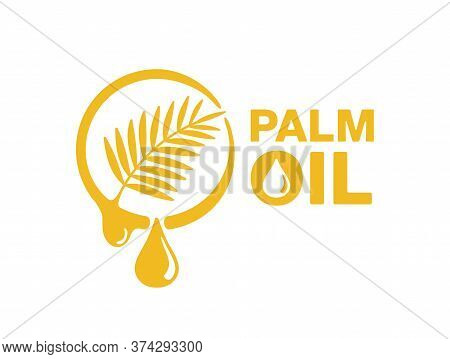 Palm Oil Icon - Food Products Ingredient Derived From The The Fruit Of The Palms - Isolated Vector E