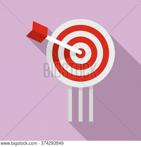 Video Game Arch Target Icon. Flat Illustration Of Video Game Arch Target Vector Icon For Web Design