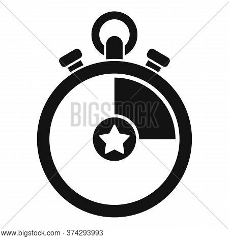 Video Game Stopwatch Icon. Simple Illustration Of Video Game Stopwatch Vector Icon For Web Design Is