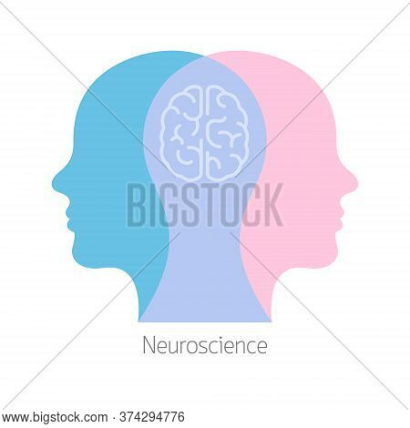 Two Humans Brain Psychotherapy Concept. Mental Health Therapist And Patient. Wellbeing Or Wellness I