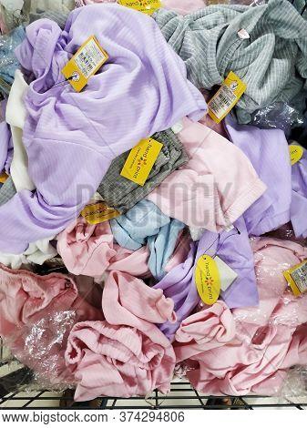 Bangalore, Karnataka/india-dec 14 2019: Closeup Of Vishal Mall Inside Cloth Department. Cloths Of Ki