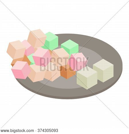 Turkish Delight Icon. Isometric Illustration Of Turkish Delight Vector Icon For Web