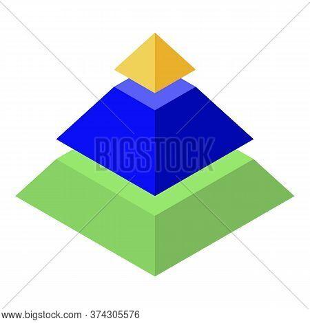Broker Pyramide Icon. Isometric Of Broker Pyramide Vector Icon For Web Design Isolated On White Back