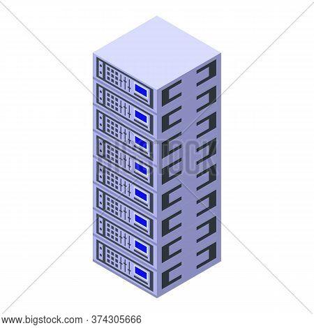 Broker Server Rack Icon. Isometric Of Broker Server Rack Vector Icon For Web Design Isolated On Whit