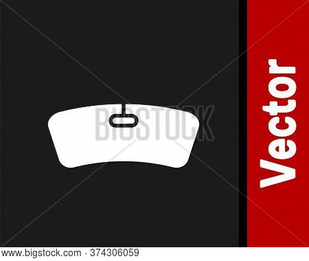White Windshield Icon Isolated On Black Background. Vector Illustration