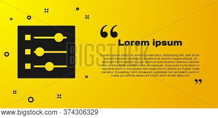 Black Car Settings Icon Isolated On Yellow Background. Auto Mechanic Service. Repair Service Auto Me