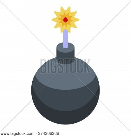 Deadline Bomb Icon. Isometric Of Deadline Bomb Vector Icon For Web Design Isolated On White Backgrou