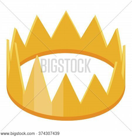 Gold Crown Reputation Icon. Isometric Of Gold Crown Reputation Vector Icon For Web Design Isolated O