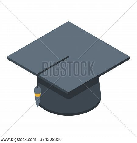 Graduated Hat Business Hat Icon. Isometric Of Graduated Hat Business Hat Vector Icon For Web Design