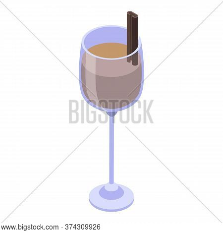 Cacao Sweden Drink Icon. Isometric Of Cacao Sweden Drink Vector Icon For Web Design Isolated On Whit