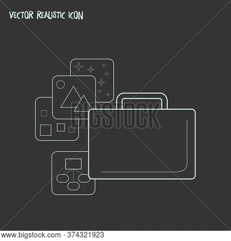 Portfolio Icon Line Element. Vector Illustration Of Portfolio Icon Line Isolated On Clean Background