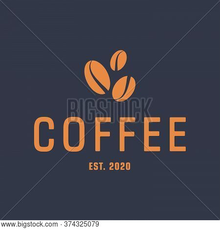 A Minimalist Logo For A Coffee Shop, Coffee Shop Or Cafe. Emblems, Badges, Stickers, Banners. Coffee