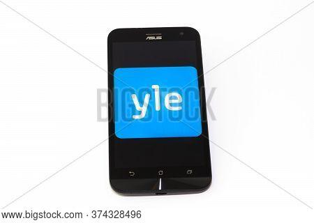 Kouvola, Finland - 23 January 2020: Yle App Logo On The Screen Of Smartphone Asus