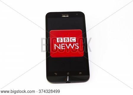 Kouvola, Finland - 23 January 2020: Bbc News App Logo On The Screen Of Smartphone Asus