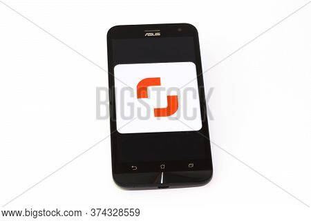 Kouvola, Finland - 23 January 2020: Shutterstock Contributor App Logo On The Screen Of Smartphone As