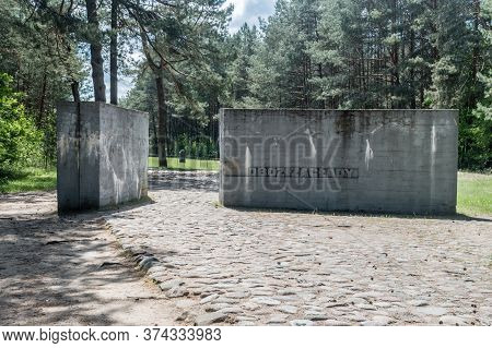 Wolka Okraglik, Poland - June 2, 2020: Extermination Camp Treblinka Ii.