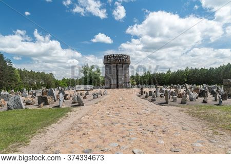Wolka Okraglik, Poland - June 2, 2020: Memorial At Treblinka Ii.