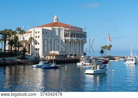 Catalina Casino, Famous Tourist Attraction In Santa Catalina Island, Southern California. June 20th,