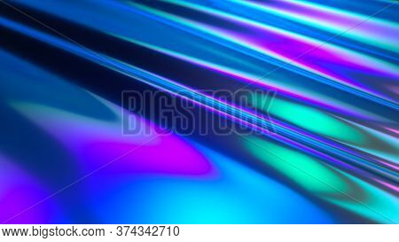 Colorful Abstract Animated Background. The Movement Of A Transparent Multi-colored Glass Surface. Ac