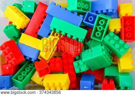 Photo Of Plastic Building Blocks Toy Background