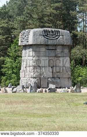 Wolka Okraglik, Poland - June 2, 2020: Memorial At Treblinka Ii Of Nazi German Extermination Camp.
