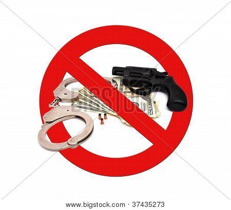 Sign Stop Gun