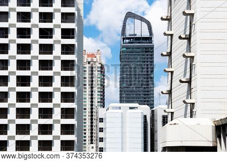 Modern Luxury And Expensive Condominium, Apartment Or Office Building Are Growing In The Real Estate