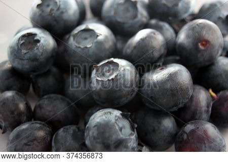 blueberry pile of blueberries fruit background with copy space healthy full of vitamins or antioxida