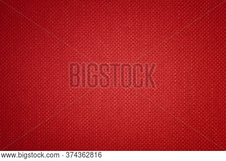 Red Vintage Plain Fabric Background Suitable For Any Graphic Design, Poster, Website, Banner, Greeti