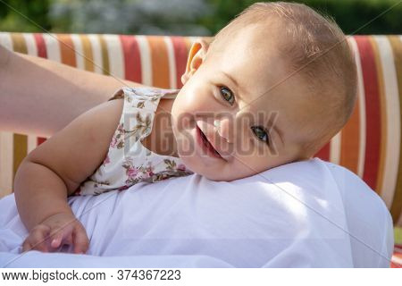 portrait of a happy child outdoors