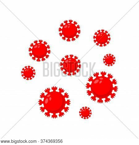 Coronavirus Microbe Isolated. Evil Red Virus Cell. 21st Century Epidemic. World Pandemic 2019-ncov