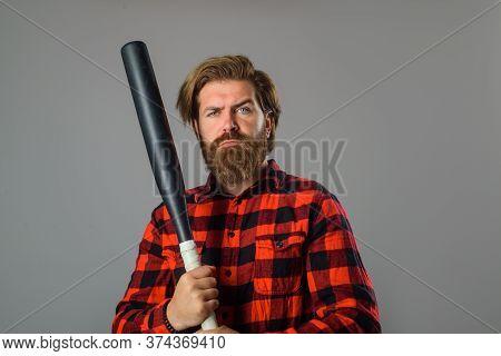 Baseball. Man With Baseball Bat. Man Holds The Bat. Baseball. Sport Bat. Sport Equipment. Baseball P