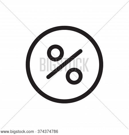Percent Icon Isolated On White Background. Percent Icon In Trendy Design Style For Web Site And Mobi