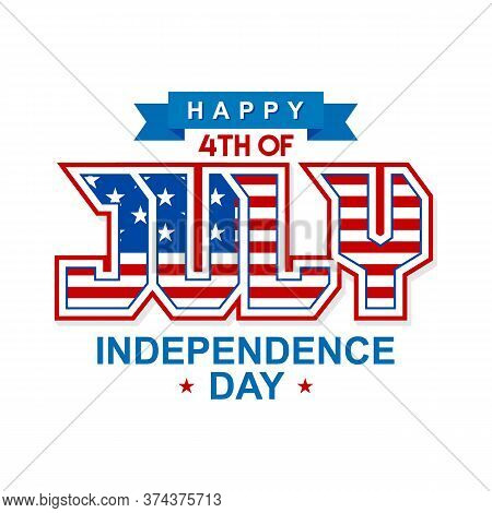 Happy 4th Of July. Us Independence Day Vector Design Background. 4th Of July Happy Independence Day
