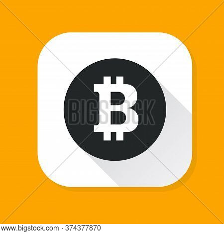 Bitcoin Coin Isolated On Background. Art Design Digital Currency, Cryptocurrency. Stock Market Elect